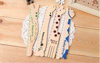 Wholesale Diy novelty cartoon animal cute hippo Giraffe cm ruler tools Drafting school Supplies wood rulers office gift