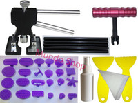 Wholesale New Paintless Dent Repair Tools PDR puller lifter with puller tabs and High Temp Black Glue sticks Manual Small T Bar