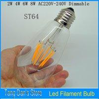 antique shell lamp - 2W W W W Dimmable Led Bulb Antique Retro Vintage LED Edison light E27 LED Filament Light AC220V Glass Shell Led Bulb Lamp