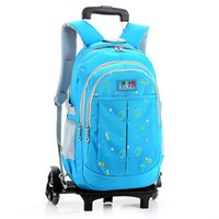 backpack trolley bags - Newly Children Trolley School Bag Backpack Wheeled Schoolbag for Boys Grils Students Backpack Travel Luggage Mochilas Escolares ZF0396