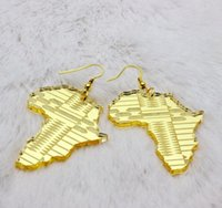africa dating - Trendy Jewelry Hip Hop Club Accessories Gold Acrylic Africa Map Earrings For Women