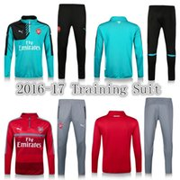 arsenal training shirt - Top Thai Quality Soccer Wear Arsenal Training suit men football sets tracksuit long sleeve shirts ET