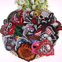 Wholesale Patches For Clothing Random Punk Iron Sew On Patches Embroidery Patch Biker Motif Clothes Stickers Garment DIY Accessory