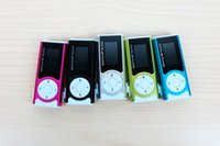 Wholesale Mini LCD Screen MP3 Cilp Music Player Support Micro TF SD Memory Card USB Cables Earphones MP3 With Retail Package