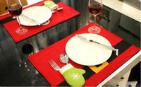 Wholesale New Style Christmas Non woven Mats And Cutlery Bag for Christmas decorations Hot Selling Via DHL Ship