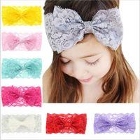 Cheap Hair Bows kids headdress Best Lace Solid children hair bands
