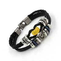 ancient amber beads - Entity Shop Restore Ancient Ways Heart shaped Alloy Parts Cowhide Bracelet Men And Women A String Of Beads Genuine Leather Bracelet