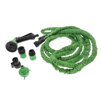 Wholesale 25FT Expandable Ultralight Garden Hose Fittings Set Flexible Water Pipe Faucet Connector Fast Connector Valve Spray Nozzle