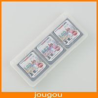 Ds lite dsi España-6 en 1 cartucho de tarjeta de juego de almacenamiento de cristal caso de transporte para Nintendo DS DSL Lite DSi