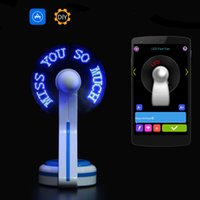 Wholesale Smart Bluetooth LED Fan Programmable Message Pattern Soft PVC Fan Blade Retail Packing Android iOS APP