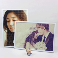 Wholesale VHOUSE STUDIO A4 photo puzzle custom photo frame inch personalized custom DIY creative couple puzzle birthday gift