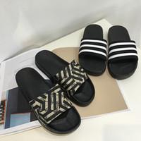 beach word - Pragmatic flat sandals soft bottom non slip slippers a word drag slippers female summer outer wear wild beach