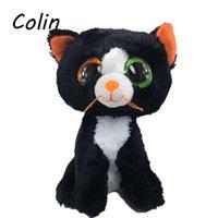 beanie boos cat - Ty Beanie Boos Original Big Eyes Plush Toy Kawaii Doll Child Birthday Black Cats Stuffed Animals TY Baby cm WJ159