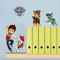 Wholesale Cartoon Movie Police Dog Wall Stickers For Kids Room Children Wall Decals Home Decoration Mural Art Boy s Room Decor gift