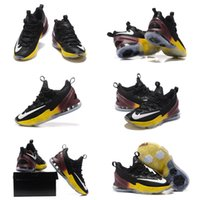 beach hotel pe - With SHOES Box Hot Sale Lebron XIII Low PE Swoosh black yellow brown Men Shoes