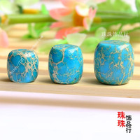 Wholesale Full shipping DIY beads accessories natural stone beads blue emperor Tongzhu Tibetan beads with Bodhi beads