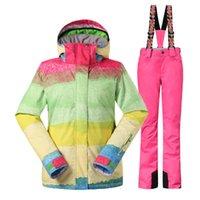 Wholesale Quality new arrival brand winter jacket skiing set women ski suit outdoor jacket water amp windproof snowboard woman ski jackets