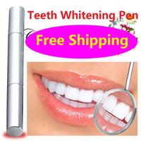 Wholesale HOT Teeth Whitening Pen Carbamide Peroxide Gel Soft Brush Applicator For Tooth Whitening Dental Care Whitener Gel ml DHL Free
