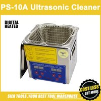Wholesale PS A L W Stainless Steel Ultrasonic Cleaner washing basket Digital Control Heating Ultrasonic Washing Machine pc head CE FC RoHS