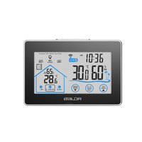 Wholesale Baldr Home LCD Weather Station Touch Button In outdoor Temperature Humidity Wireless Sensor Hygrometer Clock Digital Thermometer