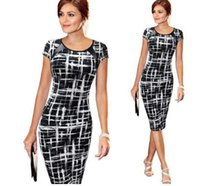 Wholesale Women s Spring Summer Printed Synthetic Leather Wear to Work Office Business Casual Pencil Dress vestidos