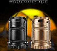Wholesale Rechargeable Solar Power camping lantern USB led lamp hiking light with charging function Hand Crank flashlight Lamp