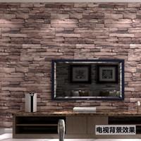 Wholesale 3D antique brick brick brick wallpaper wallpapers personality retro Hotel Chinese Restaurant Restaurant Cafe waterproof