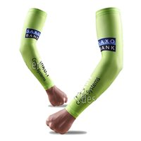 Wholesale High quality Cycling Arm Warmers Pro team SAXO TINKOFF BANK Bicycle Sun UV Protection Arm Warmers Cuff Bike quick dry Sleeve Cover