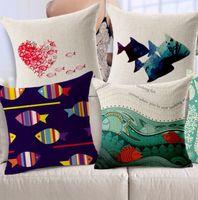 beautiful marine fish - Marine theme biological starfish vast beautiful fish pillow massager cool pillows case home bar show warm home gift