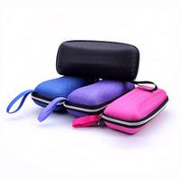 Wholesale Eyewear Cases cover sunglasses case for women glasses box with lanyard zipper eyeglass cases for men RD838600