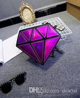 Wholesale Designer Geometric Laser Hologram handbag Ladies Leather Damond Bag For Party Women Clutch Bags color Bolsas De Mujer Cuzdan