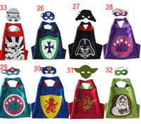 ape star - 8 styles Double Side capes star wars capes mask set customize logo Darth vader Yoda stormtrooper Ape man capes and masks DHL C367