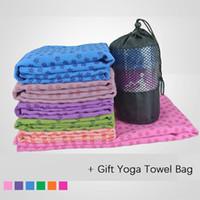 Wholesale PVC microfiber Yoga Towel slip resistance non slip Hot Yoga Mat Towels custom machine washable pilates mat cover blanket