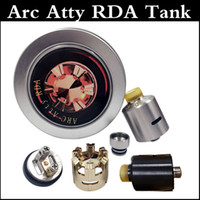 arc post - Arc atty rda atomizer DIY tank mm diameter RDA atomizer adjustable Airflow H atty RDA with peek insulator two post design SS Black
