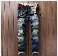 alternative media - Christmas gift for New men s jeans child punk alternative white cloth color stitching nightclub sportsman Slim Straight jeans