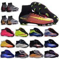 basketball shoes high tops - Kids Soccer Boots CR7 Cristiano Ronaldo Mens Mercurial Superfly FG TF Women Boys Football Soccer Shoes High Top indoor Soccer Cleats Pink