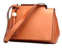 Wholesale The new leather bag Simple fashion bag Single shoulder hand satchel Casual Bags Female bag Large capacity bag