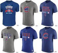 Wholesale MLB Cubs T Shirts Baseball jerseys Tshirts Chicago Authentic Royal blue grey