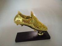 Wholesale 1 size Football Golden Boot Shoe Trophy Replica The Golden Boot Award football shoes fans souvenir