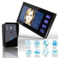 Wholesale ENNIO quot Video Door Phone Intercom Doorbell Touch Button Remote Unlock Night Vision Security CCTV Camera Home Surveillance