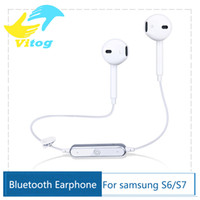 Wholesale S6 Wireless Bluetooth Earphone high Quality Stereo Sound Headset Sport Runnning Earphones Hand Free for iphone s7 edge
