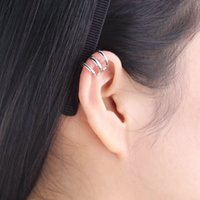 Wholesale Punk Rock Ear Clip Cuff Wrap Earring No piercing Clip On Silver Plated Gold Plated Rose Gold Plated Hot Sale