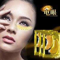 Wholesale Natural crystal collagen gold powder eye mask Anti Aging eliminates dark circles and fine lines eye care Skin care GI2476