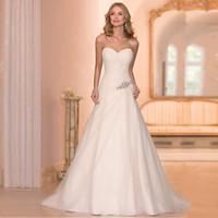 bridal dress china - Beaded Cheap Organza Beach Wedding Dresses China ball gown Elegant Backless Bridal Dress Pleats Mermaid Wedding Dress