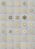Wholesale Fashion Assorted Snowflake Shapes Wooden Embellishment Xmas Christmas Tree Decor Home Party Decoration Hanging