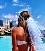 Wholesale 2016 Wedding Bikini Veil Two Pieces Headpiece Veil And Booty Veil Bachelorette Party Veils Bachelorette Party Set Hen Party Bridal Set