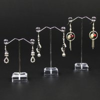 metal jewelry stand - Sets Metal Jewellery Earring Display Stand Rack Holder In Set Holes