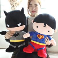 Plush batman teddy bear - Batman wars Superman Batman doll plush dolls around doll birthday girl