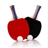 Wholesale Table Tennis Set Long Handle Shakehand Table Tennis Pingpong With Two Rackets Three Balls One Bag For Outdoor Sports