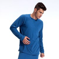 Wholesale NEW brand casual Outdoor sport running fleece underwear windproof thermal pullovers autumn winter male mens for man hiking shirt